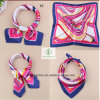 60*60cm Satin Silk Cravat Printed Fashion Gift Square Scarf