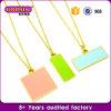 Fashion Gold Plated Custom Enamel Disc Charm Beautiful Necklace