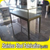 Keenhai Custom-Made Stainless Steel+Clear Glass Jewelry Display Stand