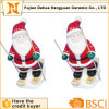 Ceramic Skiing Santa Clause for Christams Decoration