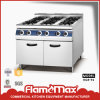 6-Burner Gas Cooking Range with Cabinet (HGR-96)