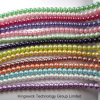 Fashion Imitation Pearl Strands Beads, Loose Glass Pearl Beads Strand, Jewelry Findings Glass Pearl Beads