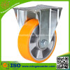 High Quality Zinc Plated Frame PU Wheel, Fixed Ball Caster