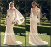 Long Sleeves Lace Bridal Gown off Shoulder Garden Country Beach Wedding Dress Cab2169