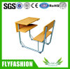 High Quality Metal Frame Wooden School Desk and Chair (SF-89S)