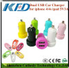 Colorful Dual USB Car Charger for iPhone 4/4s iPad iPod 5V3a