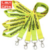 Promotional Custom Logo Neck Nylon Sublimation Heated Transfer Printing Polyester Lanyard with ID Card Holder
