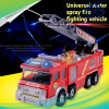 Universal Water Spray Fire Fighting Vehicle Kids Toy with Music