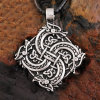 Vintage Norway Norse Vikings Amulet Dragon Raven Pendant Necklace Men Women Jewelry
