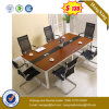 Square Metal Leg Wooden Desk Top Office Conference Table (UL-MFC249)