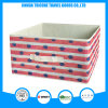 2017 Popular Non-Woven Red Stripe and Dots Printed Storage Bag Box Foldable Box