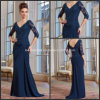 V-Neckline A-Line Navy Blue Mother of The Bride Formal Dresses M71020