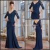 V-Neckline A-Line Navy Blue Mother of The Bride Formal Dresses M71020