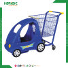 Kids Shopping Cart with Plastic Baby Stroller