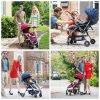 2017 Aluminum Frame Luxury Fold Baby Stroller with European Standard