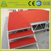 1.22mm*1.22mm Adjustable Movable Outdoor Plywood Aluminum Lighting Stage