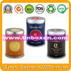 Round Food Packaging Metal Coffee Tin Container