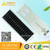 30watts All-in-One Integrated Solar LED Street Light with LiFePO4 Lithium Battery