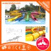 Water Island Fiberglass Slide Outdoor Playground Water Roller Slide with Spiral Slides