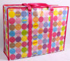 Environmental Foldable Gloss Laminated Handle Nonwoven Zipper Shopping Bag