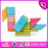 New Arrival 18PCS DIY Wooden Puzzle 4D Toy, Colorful and Non-Toxic Wooden DIY Block Toy Wholesale W03b047