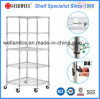 Pentagon Chrome Metal Corner Storage Rack for Supermarket