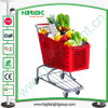 Plastic Shopping Cart Trolley with Best Wheels