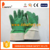 Ddsafety 2017 Cotton Green Gloves Latex Coated Safety Gloves