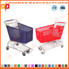 High Quality Supermarket Plastic Shopping Carts Trolley (ZHt272)