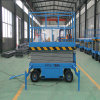 Four Wheels Aerial Man Lifting Table Mini Mobile Scissor Lift Platform