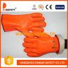 Ddsafety 2017 Orange PVC Foam Glove Chemical Resistant Safety Glove
