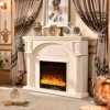 Modern Hotel Furniture Wood Heater Electric Fireplace with Ce (332B)