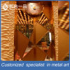 Customized Metal Steel Rose Gold Private Room Interior Door for Restaurant/KTV/Club