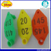 65X43mm Customized Number Animal Ear Tag for Sheep Identification