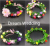 Wholesale Colorful Bridesmaid Garden Outdoor Wedding Headpiece Wreath