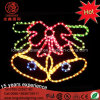 Waterproof LED Golden Christmas Bell Motif Rope Light for Home Decoration