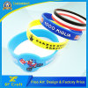 Professional Custom Silkscreen Silicone Wristband for Promotion Gift (XF-WB08)