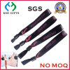 Plastic Clip Satin Giveaway Promotion Woven Wristband