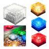 Colorful Solar Powered Lighting Auton Ice Brick Glass Underground Light