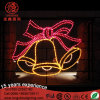 LED Christmas Gold Bell Motif Light for Outdoor Decoration