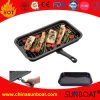 Portable Detachable Carbon Steel Enamel Grill Pan/Roaster Pan for Camping