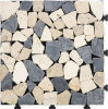 Outdoor Flooring DIY Interlocking Mosaic Travertine Tile
