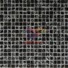 Black Stone Mix Cracked Glass Mosaic Tile (CS127)