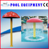 Water Play Equipment FRP Red Water Mushroom