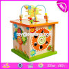 New Design Educational Activity Cube Wooden Toddler Learning Toys W11b146