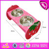 High Quality Safety Double Pet Feeder Wooden Dog Water Bowl and Food Bowl W06f047