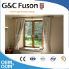 Yellow Sandal Wood Grain Aluminium Window with White Double Glazing
