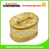 Custom PU Barrel Gold Glitter Cosmetic Bag Private Label