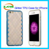 Electroplating Bumper with Back Transparent Glitter Phone Case for iPhone