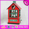 2015 Wooden Craft Carousel Music Toy, Interesting Wooden Music Box, 2color Wood Bird Room Christmas Gift Design Music Box W07b023b